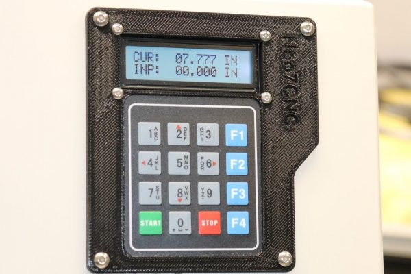 Control keypad with 3d printed bezel