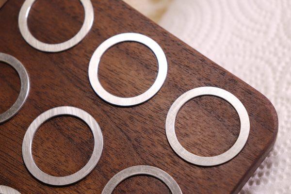 Hard Drive Ring Trivet - Detail