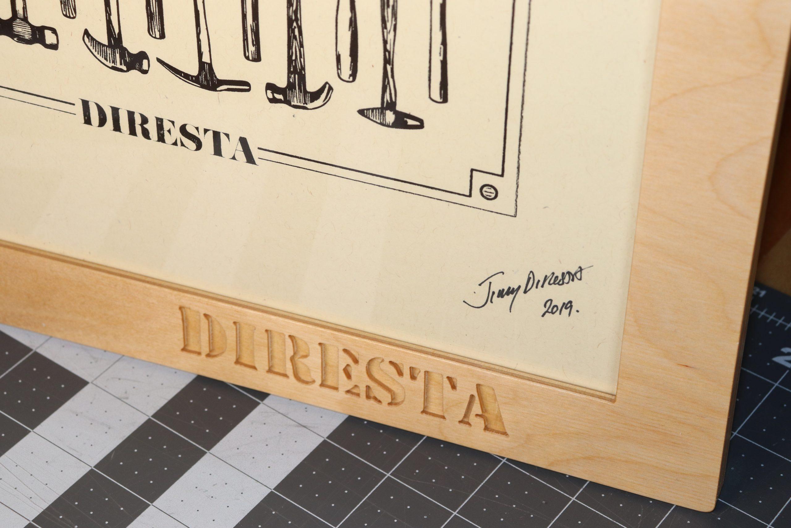 Diresta Print Frame Detail - Neo7CNC